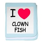 I heart clownfish baby blanket