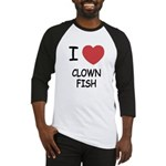 I heart clownfish Baseball Jersey