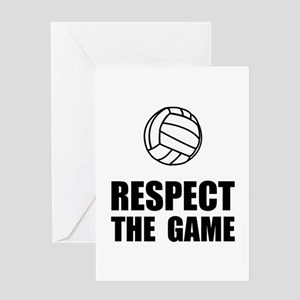 Respect Volleyball Greeting Card