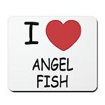 I heart angelfish Mousepad