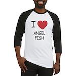 I heart angelfish Baseball Jersey
