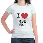 I heart angelfish Jr. Ringer T-Shirt