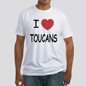 I heart toucans Fitted T-Shirt