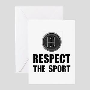 Respect Racing Greeting Card