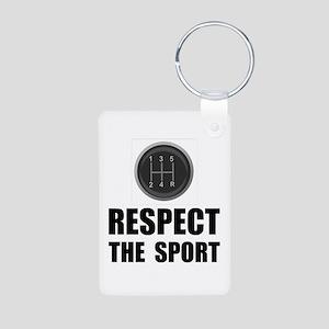 Respect Racing Aluminum Photo Keychain