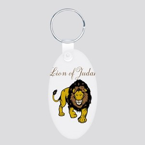 Lion of Judah Aluminum Oval Keychain