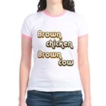 Brown Chicken Brown Cow Jr. Ringer T-Shirt