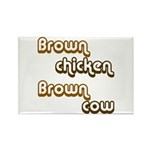 Brown Chicken Brown Cow Rectangle Magnet (10 pack)