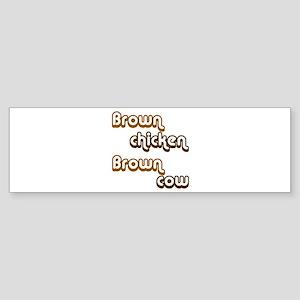 Brown Chicken Brown Cow Sticker (Bumper)