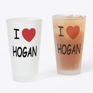 I heart hogan Drinking Glass