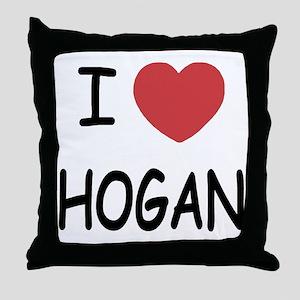 I heart hogan Throw Pillow
