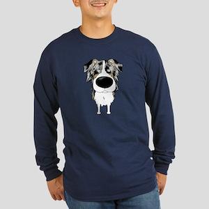 Big Nose Aussie Long Sleeve Dark T-Shirt