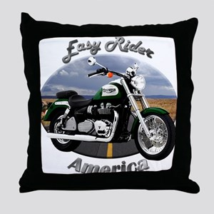 Triumph America Throw Pillow
