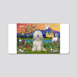 Tibetan Terrier in Fantasy La Aluminum License Pla