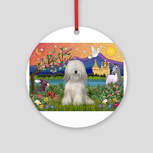 Tibetan Terrier in Fantasy La Ornament (Round)