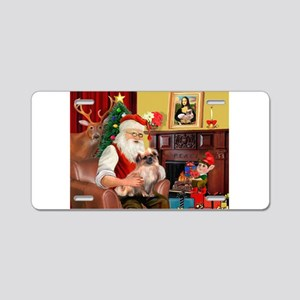 Santa's Tibetan Spaniel #4 Aluminum License Plate