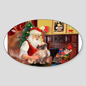 Santa's Tibetan Spaniel #4 Sticker (Oval)