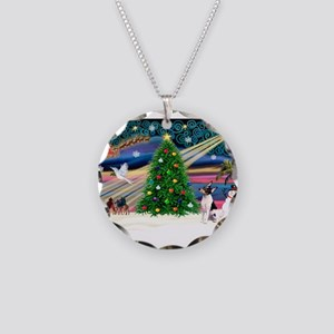 Xmas Magic & Toy Fox T Necklace Circle Charm