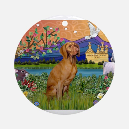 Vizsla in Fantasyland Ornament (Round)
