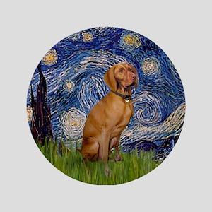 """Starry Night & Vizsla 3.5"""" Button"""