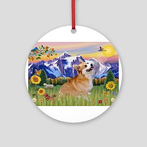 Mt Country / Corgi (p) Ornament (Round)