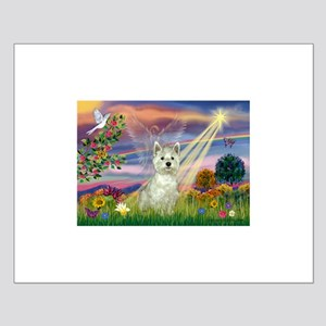 Cloud Angel / Westie Small Poster