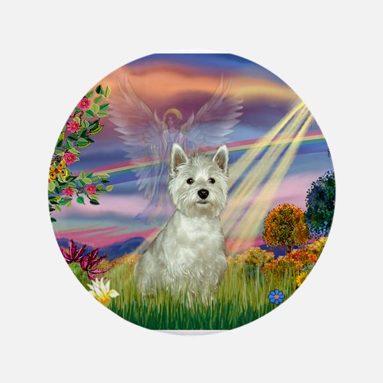 "Cloud Angel / Westie 3.5"" Button"