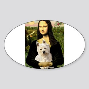 Mona and her Westie Sticker (Oval 10 pk)