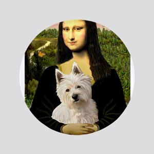 """Mona and her Westie 3.5"""" Button"""