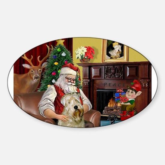 Santa's Wheaten (#7) Sticker (Oval)