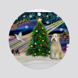 Xmas Magic - Wheaten (sit) Ornament (Round)