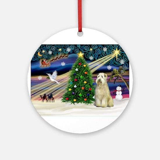 Xmas Magic - Wheaten (sit) Ornament (Round)