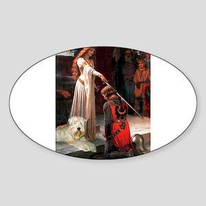 Princess & Wheaten Sticker (Oval)