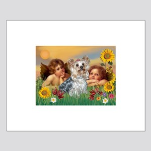 Angels with Yorkie Small Poster