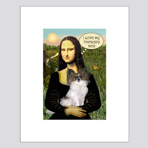 Mona's Papillon Therapy Dog Small Poster