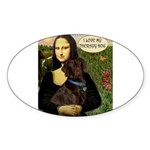 Mona's Chocolate Lab (TH) Sticker (Oval 10 pk)