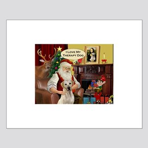 Santa's Yellow Lab (TH) Small Poster