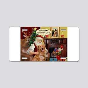 Santa's Golden Therapy Aluminum License Plate