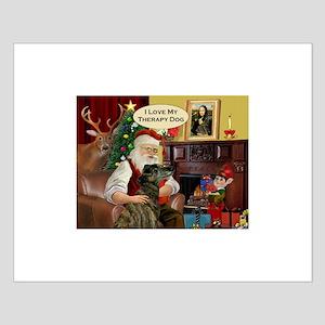 Santa's Brindle Greyt (TH) Small Poster