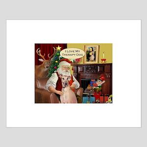 Santa's Greyt Therapy (rd) Small Poster