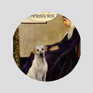 """Mom's Yellow Lab (TH) 3.5"""" Button"""