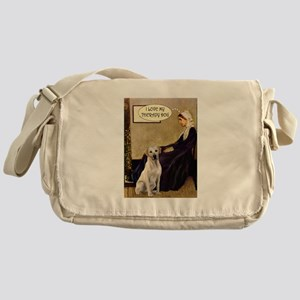 Mom's Yellow Lab (TH) Messenger Bag