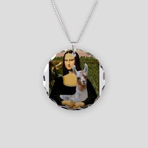 Mona's Baby Llama Necklace Circle Charm