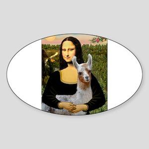 Mona's Baby Llama Sticker (Oval)