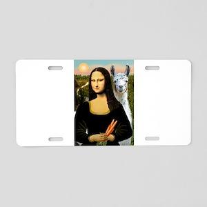 Mona Lisa's Llama Aluminum License Plate