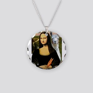Mona Lisa's Llama Necklace Circle Charm