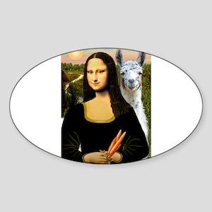 Mona Lisa's Llama Sticker (Oval)