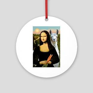 Mona Lisa's Llama Ornament (Round)