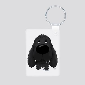 Big Nose Cocker Aluminum Photo Keychain