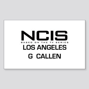 NCIS LA G Callen Sticker (Rectangle)